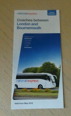 £2 • Buy National Express  Coach Timetable - Bournemouth To London - 2012