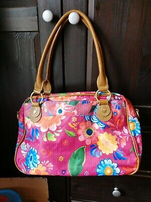 £13 • Buy Brightly Coloured Oilily Bag - Pink, Blue, Yellow, Orange, With Pink Interior