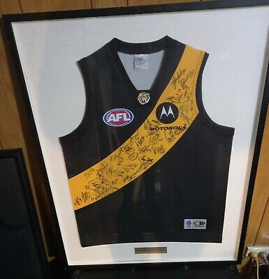 AU190 • Buy Richmond Football Club, Signed By Whole Team, Framed Jumper 2000s AFL Collectors