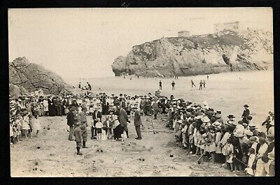 £40 • Buy Tenby - Sandcastle Competition On The Beach - Printed Postcard