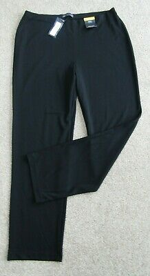 £11.50 • Buy New M&S Collection Straight Jersey Stretch Trousers Size 16 Reg, Leg 30 . Black