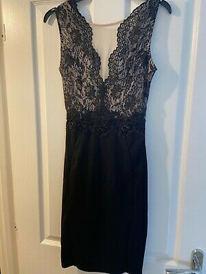 £12.99 • Buy Michelle Keegan Lipsy Size 8, New With Tags, Black Lace Dress