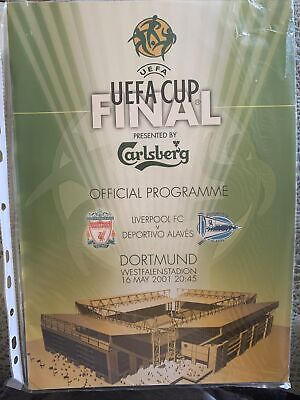 £4.35 • Buy UEFA CUP FINAL - Offical Programme - Liverpool FC Vs Deportivo Alaves- 16/05/01