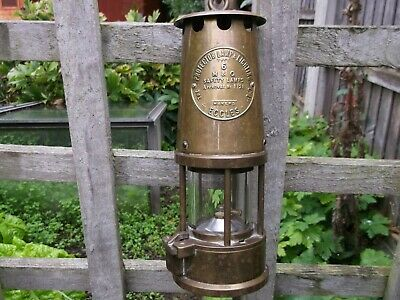 £45 • Buy Miners Eccles Type 6 Brass Miners' Lamp,  Full Size 9  Tall  Miners Lamp