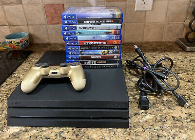AU532.78 • Buy Sony PlayStation 4 PS4 Pro 1TB 4K Console, 11Games, Gold Controller, Great Cond