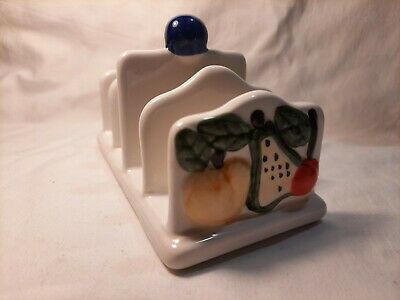 £3 • Buy Retro Rayware Country Kitchen Toast Rack With Fruit Pattern