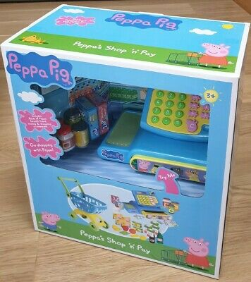 £18.50 • Buy Peppa Pig SHOP N PAY Till Playset CASH REGISTER SHOPPING TROLLEY - Role Play NEW