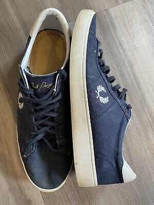 £15.99 • Buy Fred Perry - Navy Canvas Sneakers Trainers Shoes - Size UK 9 - Blue - B8285/608