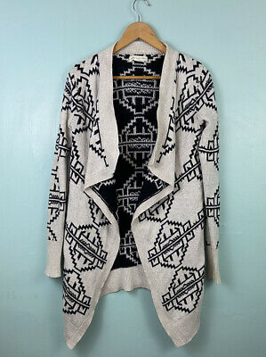 £10 • Buy Urban Outfitters Cardigan Long Open Front With Aztec Pattern Size XS