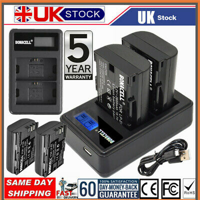 £23.99 • Buy 2X LP-E6 Battery+ LCD DUAL Charger For Canon XC10 EOS 80D 70D 60D Mark III 5DS