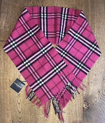 £55 • Buy Burberry Girls Wool & Cashmere Pink Scarf