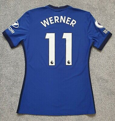 £650 • Buy Nike Timo Werner Chelsea Vs Liverpool & Everton Match Worn Player Shirt Jersey