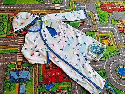 £6 • Buy New Ted Baker Boys Sleep Suit 12-18 Months With Matching Hat