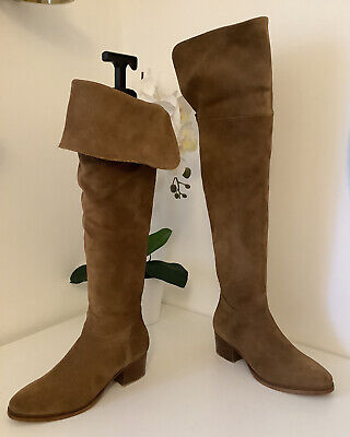 £13.50 • Buy Ladies DUNE Gorgeous Tan Suede Over The Knee Boots, UK Size 5
