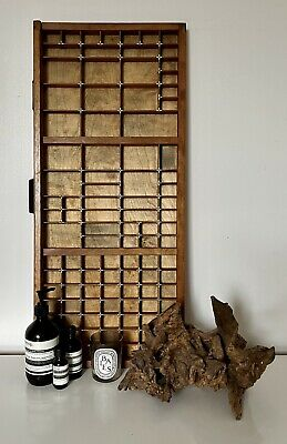 AU174.71 • Buy Vintage Letterpress Wooden Printers Tray With Brass Refurbished Good Condition