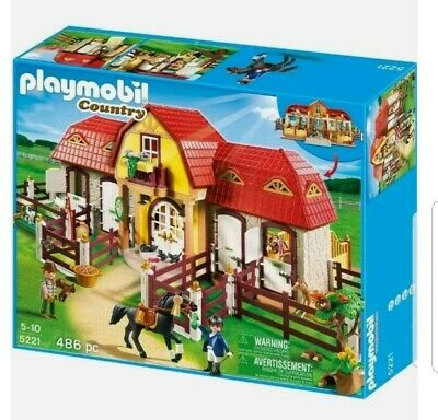 £81.99 • Buy PLAYMOBIL 5221 County Large Horse Farm With Paddock NEW