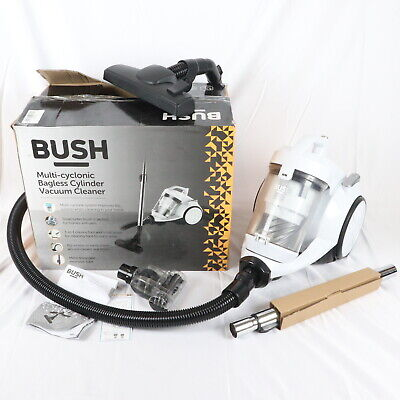 £27.99 • Buy Bush Bagless Multi Cyclonic Cylinder Vacuum Cleaner - White Good Used Condition