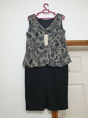 £15.99 • Buy Dorothy Perkins Bille And Blossom Peplum Dress Size 16 New With Tag