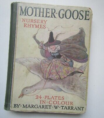 £5.99 • Buy Old Mother Goose Nursery Rhymes Book With 24 Colour Plates By Margaret Tarrant