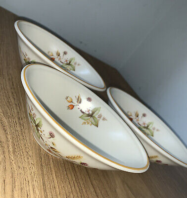 £15 • Buy 3 X Vintage Marks And Spencer M&S Harvest Avocado Bowls / Oval Dishes.    #B6**