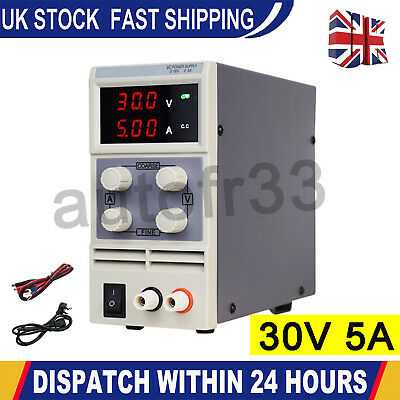£43.99 • Buy Adjustable Switching Mode Power Supply 30V DC Digital LED Precision LAB Variable