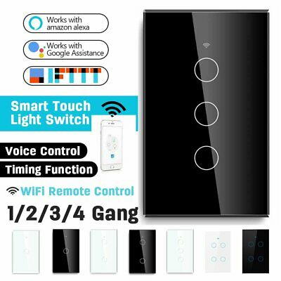 AU23.99 • Buy WiFi Switch Smart Home Touch RF Light Wall Panel 1/2/3/4 Gang For Alexa Google