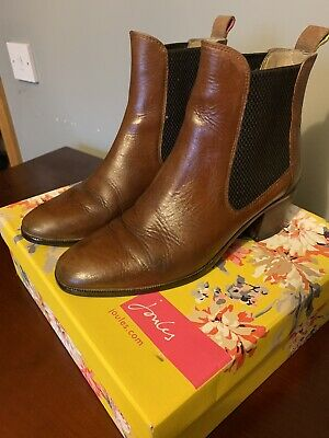 £10 • Buy Joules Tan Leather Ankle Boots - Size 38
