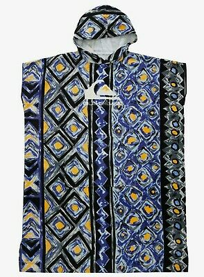 £44.99 • Buy Quiksilver Mens Poncho Towel.hoody Blue Hooded Surfer Beach Changing Robe W21