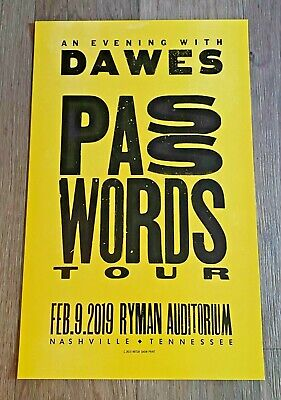$40 • Buy Hatch Show Print Poster From Dawes Ryman Concert
