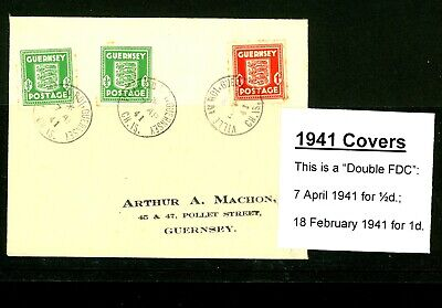 £0.99 • Buy Guernsey 1941  Occupation Cover With Arms Stamps (Minor Foxing)     (O468)