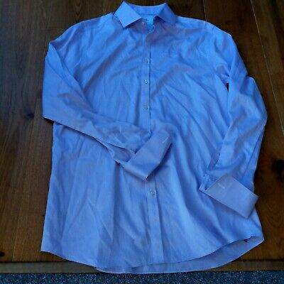 £10 • Buy Charles Tyrwitt Cotton Double Cuff Shirt Size 16.5 Extra Slim Fit Excellent...