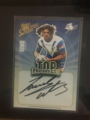 AU50 • Buy I Have 6 Nrl Signature Cards Roosters Bulldogs Knights Bunnies Cowboys Eels