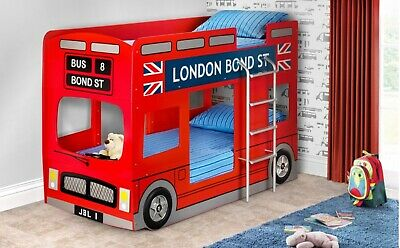£250 • Buy Julian Bowen London Bus Bunk Bed Impeccable Condition, Less Than 4 Months Used