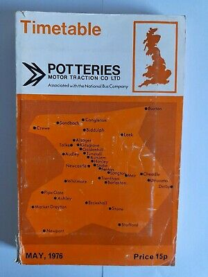 £5 • Buy Potteries Motor Traction Co Ltd Bus Timetable May 1976