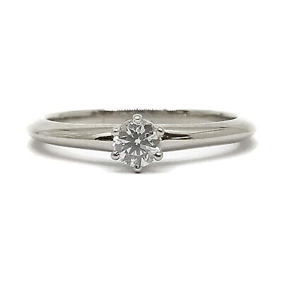 AU34.72 • Buy Tiffany And Co. Ring  Solitaire Diamond 0.18ct Platinum 2205752