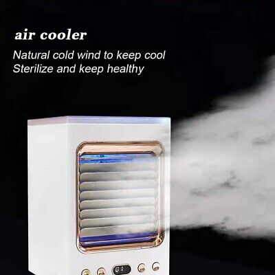 AU59.79 • Buy Mini Conditioner Portable Air Cooler LED USB Fan Cooling With Humidifier Desktop