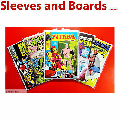 £24.98 • Buy Comic Bags. Crystal Clear Sleeves Size1 Fist Titans Marvel Digest Series X 50 .