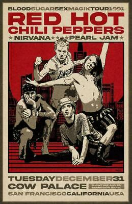 $15.99 • Buy Red-Hot-Chili-Peppers 1991 Concert Poster, Vintage Poster, Wall Art Decor