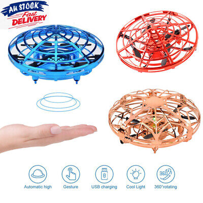 AU12.99 • Buy 360° Mini Drone Smart UFO Aircraft For Kids Flying Toy RC Hand Control Xmas Gift