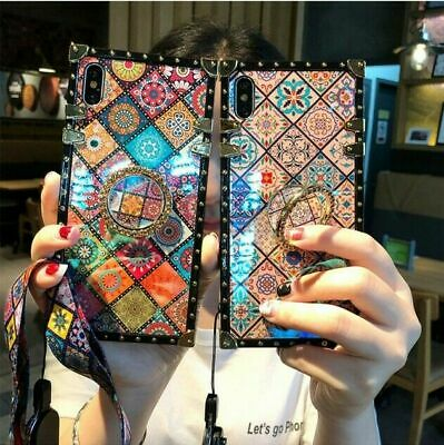 AU15.99 • Buy Case For IPhone 13 12 11 Pro Max 7 8 Plus XR With Diamond Ring Stand Phone Cover