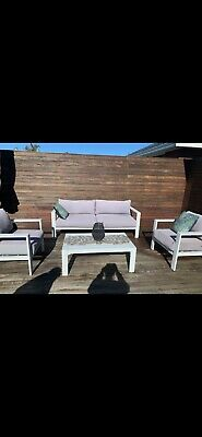 AU270 • Buy Outdoor Furniture, Round Outdoor Bed With Headrest, 3 Seater, 2x 1 Seater Used