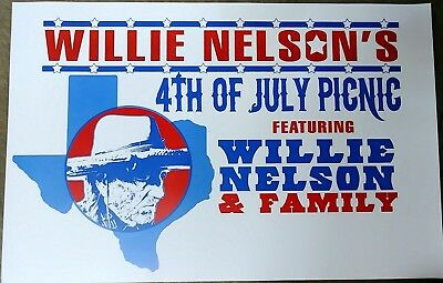 $15.83 • Buy Willie Nelson & Family  4th Of July Picnic  2015 Austin, Tx Concert Tour Poster