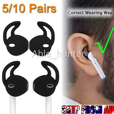 AU10.95 • Buy 5/10 Pairs Silicone Ear Hooks Skin Cover For Apple AirPods AirPod Headphones AD