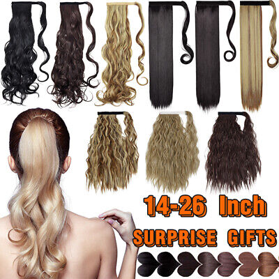 £5.90 • Buy BIG Sale Thick Clip In Like Human Hair Extensions Pony Tail Wrap On Ponytail UII