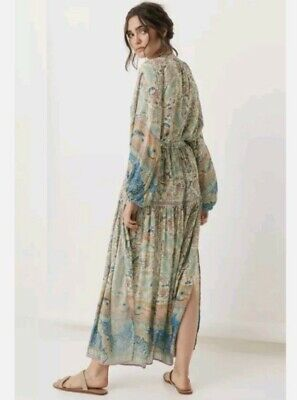 AU299 • Buy SPELL & THE GYPSY Oasis Skirt In Pearl, Size XL BNWT