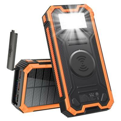 AU52.55 • Buy Universal Solar Power Bank With Type-C USB Port 20000mAh PD Fast Charging