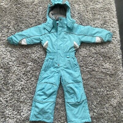 £14.99 • Buy Kids Trespass Blue All In One Ski Suit   Snow Suit   Age 2-3   Removable Hood