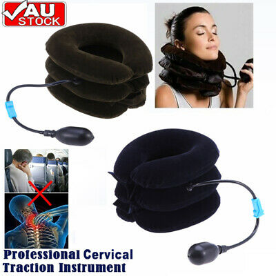 AU14.99 • Buy Air Inflatable Pillow Easing Muscle Pain Device For Cervical Neck Traction 2021