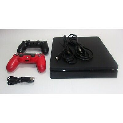AU289.75 • Buy Sony Playstation 4 Ps4 Slim 1tb Cuh-2215b Jet Black With 2 Controllers & Cables