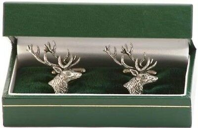 Stag Cufflinks For Stalking, Rifle, Hunting , Shooting • 12.99£